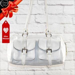 Tignanello White Leather Handbag ~0d0!6p1t1k2hu